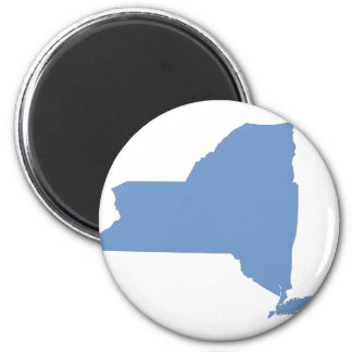 New York: A Blue State 6 Cm Round Magnet