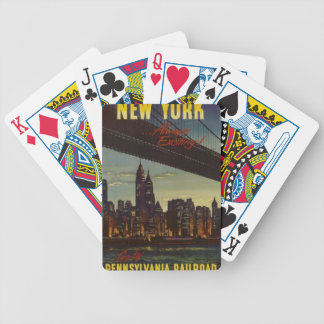 New York Always Exciting Bicycle Playing Cards
