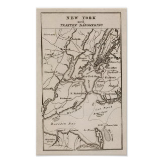 New York and New Jersey Region Poster