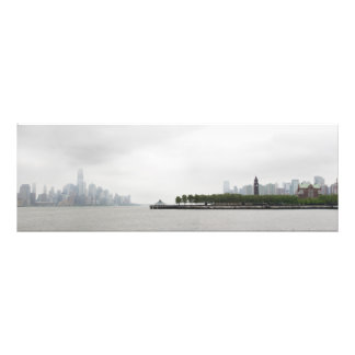 New York and New Jersey Skyline in the Fog Art Photo