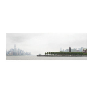 New York and New Jersey Skyline in the Fog Canvas Print