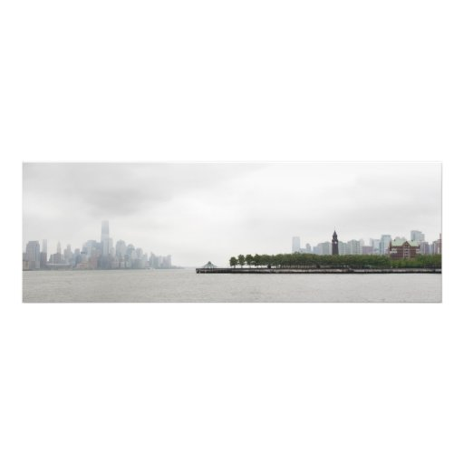 New York and New Jersey Skyline in the Fog Photographic Print