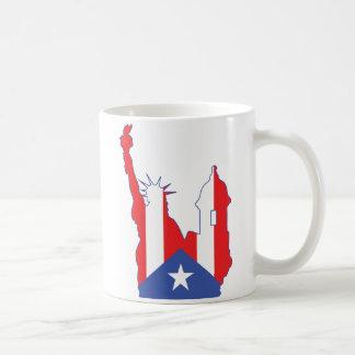 new york and puerto symbol merged coffee mug