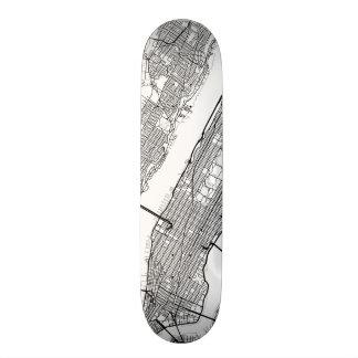 New York | Any City Street Map Skate Decks