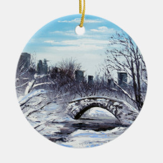 New York Art, Central Park, Landscape Ceramic Ornament
