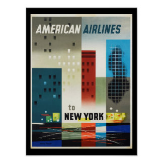 New York Art Deco Vintage Poster