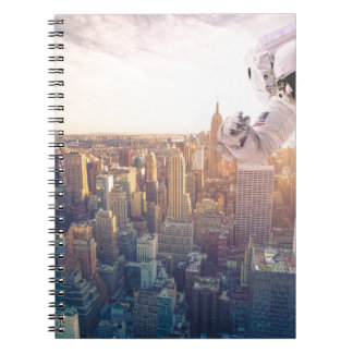 new york astronaut spiral note book