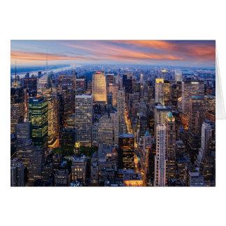New York at Night Card