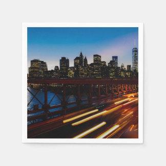 New York at night Paper Serviettes