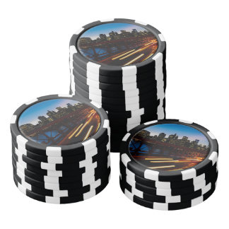 New York at night Poker Chips
