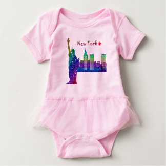 New York Baby Tutu Bodysuit