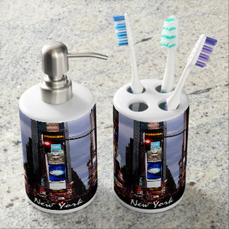 New York Bath Souvenirs Times Square Bathroom Set