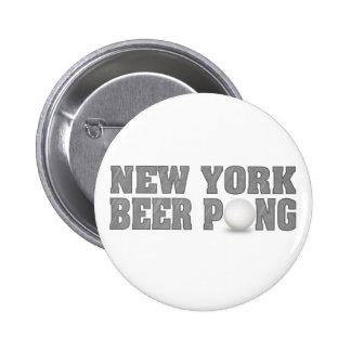 New York Beer Pong 6 Cm Round Badge