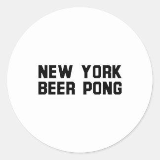 New York Beer Pong Sticker