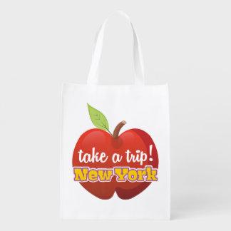 New York Big Apple travel poster