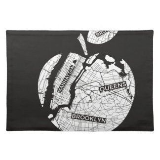 New York big apple with city map Placemat