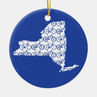 New York Bike Ceramic Ornament