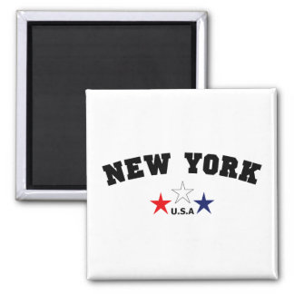 New York Block Square Magnet