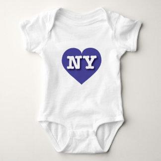 New York Blue Heart - Big Love Baby Bodysuit