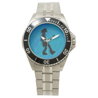 New York Boogie Nights Guitar Blue Watch