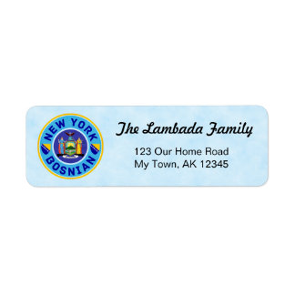 New York Bosnian American Address Labels