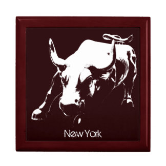 New York Boxes New York Bull Souvenir NY Giftbox Large Square Gift Box