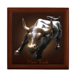 New York Boxes New York City Souvenir Bull Giftbox Large Square Gift Box