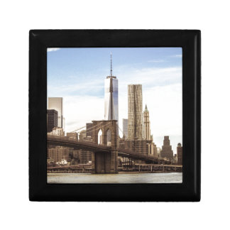 New York Brooklyn bridge Small Square Gift Box