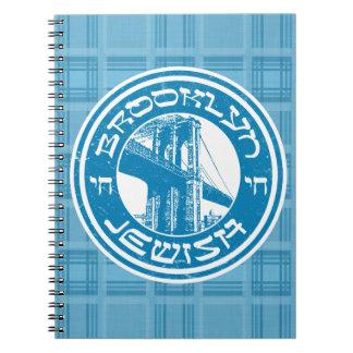 New York Brooklyn Jewish Notepad Spiral Notebook