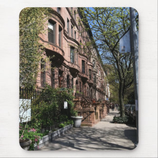 New York Brownstones Upper West Side Buildings NYC Mouse Pad