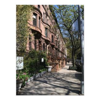 New York Brownstones Upper West Side Buildings NYC Photo Print