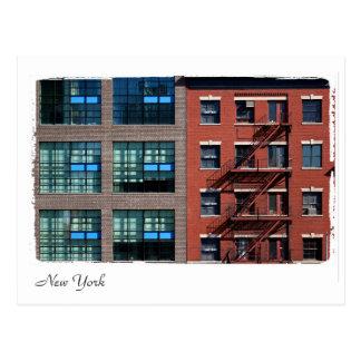 New York buildings. Postcard