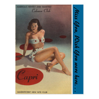New York, Capri Cabana Club, Night Club Postcard