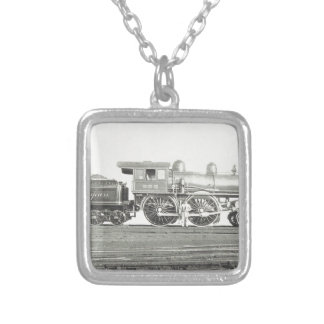 New York Central and Hudson River Silver Plated Necklace