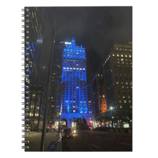 New York Central Building NYC Park Avenue Night Spiral Notebook