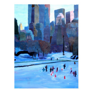 New York Central Park Ice And Winter In Manhattan Postcard