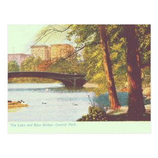 New York, Central Park Lake Postcard