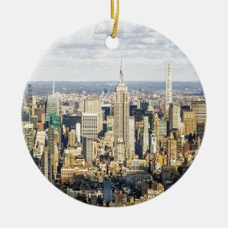 New York Ceramic Ornament