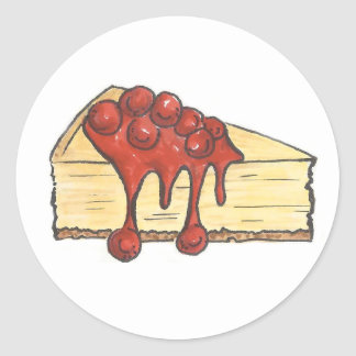 New York Cherry Cheesecake Cheese Cake Stickers