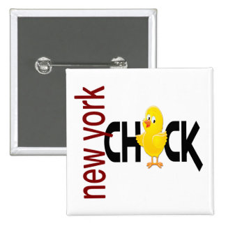 New York Chick 1 15 Cm Square Badge