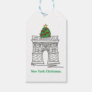 New York Christmas NYC Landmarks Gift Tag