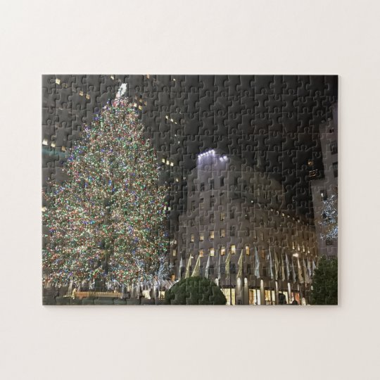 New York Christmas NYC Rockefeller Centre Tree Jigsaw Puzzle