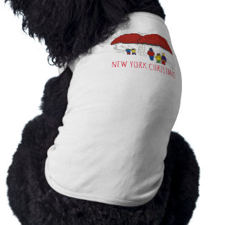 New York Christmas NYC Window Shopping Dog Tee