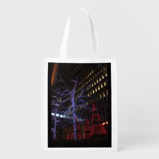 New York Christmas Reusable Grocery Bag