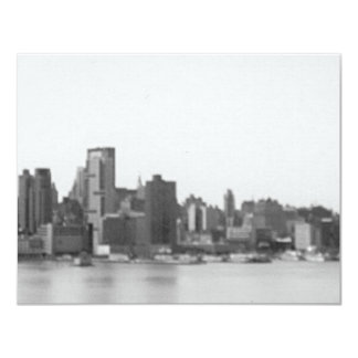 New York City 11 Cm X 14 Cm Invitation Card