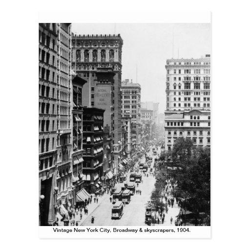 New York City 1904, Vintage Broadway postcard Post Cards