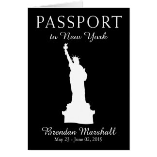 New York City 26th Birthday Passport Card