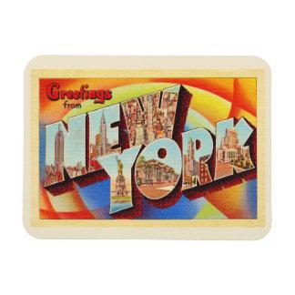 New York City #2 NY Large Letter Travel Postcard - Magnet