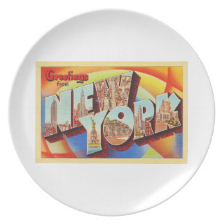 New York City #2 NY Large Letter Travel Postcard - Plate