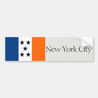New York City 5 buroughs flag bumper sticker